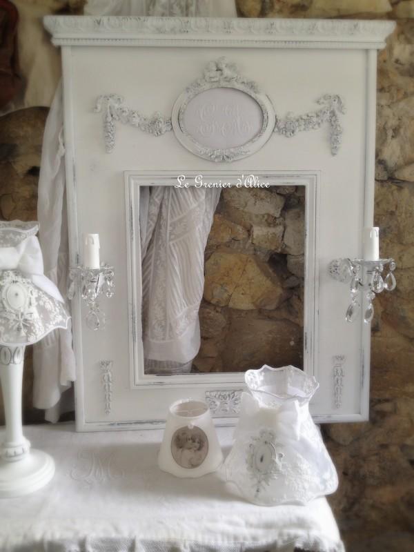 nouveau trumeau shabby romantique le grenier d 39 alice le grenier d 39 alice. Black Bedroom Furniture Sets. Home Design Ideas