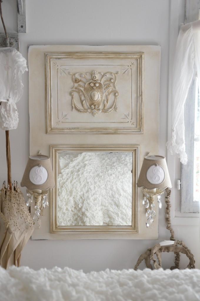 Miroir romantique miroir a applique ancienne pampille - Abat jour cosy ...