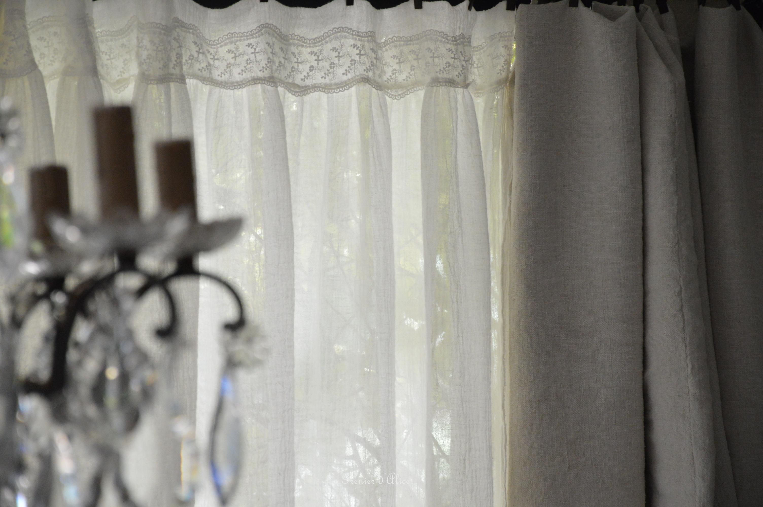 Nouveau tissu donc nouveaux articles le grenier d 39 alice - Rideaux shabby chic ...